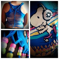 Upcycled Snoopy Womens Top Vest Tank Tee by TheCraftyPixiesStore, Toddler Fashion, Pixie, Upcycle, Tie Dye, Weaving, Snoopy, Vest, Crafty, Disney Princess