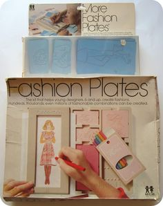 The Original Fashion Plates and the More Fashion Plates expansion kit by Tomy at Serendipity Handmade blog.