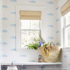 Baby Bathroom, Interior Styling, Interior Design, Fish Wallpaper, Tropical Houses, Home Reno, Florida Home, Coastal Style, Kitchen Interior