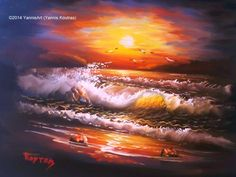 Oil Painting On Canvas, Oil Paintings, Northern Lights, Nature, Movie Posters, Travel, Art, Art Background, Naturaleza