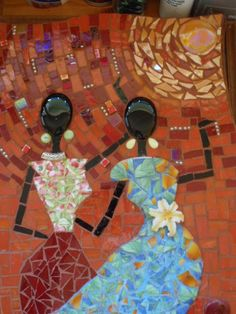 African mosaic. by Poppins Mosaics and Crafts, via Flickr