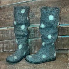 Обувь ручной работы. Ярмарка Мастеров - ручная работа Валяные сапоги Cherchez la femme 2. Handmade.