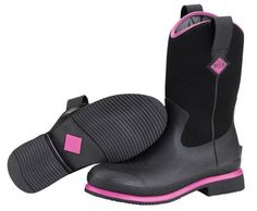 Muck Boots Women's Ryder Mid All Purpose Boot - Black/Pink - HeadWest Outfitters