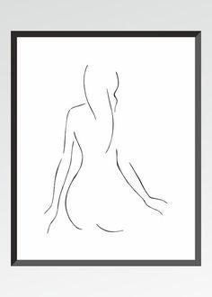 """Résultat de recherche d'images pour """"nu de dos au trait"""""""