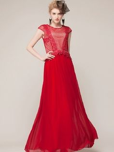 Shop Red Mesh Maxi Dress With Cap Sleeve from choies.com .Free shipping Worldwide.