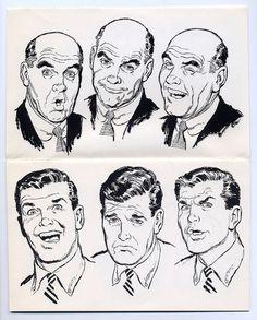 Highlights From An Historic Clip Art Collection - Flashbak Comic Face, Comic Manga, Comic Drawing, Retro Illustration, Vintage Comics, Art Studies, Illustrations And Posters, Comic Artist, Comic Books Art