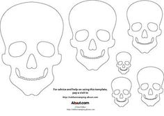 Skull template for rubber stamping and other craft projects. Use this template to add to handmade cards, make Halloween decorations or as templates for carving your own custom stamps. Halloween Kids, Halloween Crafts, Halloween Decorations, Halloween Sewing, Halloween 2016, Skull Template, Mask Template, Skull Coloring Pages, Coloring Book