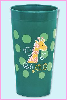 Alpha Epsilon Phi plastic tumbler features your sorority's mascot. $3.95