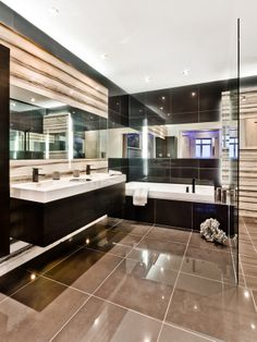 If you want a luxurious, opulent yet practical bathroom- this one could be your option!