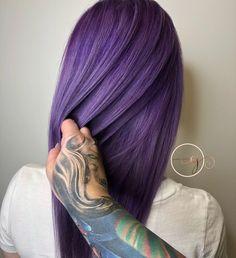 Smokey purps Pulp Riot Hair custom mix of the newest Pastel Purple Hair, Hair Color Purple, Violet Hair Colors, Purple Style, Lilac Hair, Hair Colours, Green Hair, Dark Purple, Blue Hair
