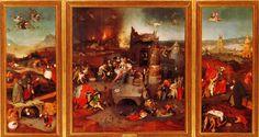 Hieronymus-Jérôme Bosch - Primitif Flamand - Les Tentations de Saint Antoine