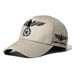 8b5cc19b1d9 Cotton Eagle Embroidery Baseball Cap Outdoor Sports Breathable Sun Hat For  Mens