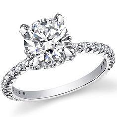 Round Asha & Diamond Engagement Ring