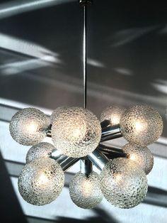 4 Glaskuppeln Art Deco Lampe 30er Jahre Deckenlampe Holz