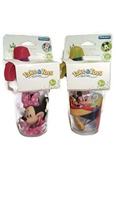 he First Years Take & Toss Sippy Cups Mickey & Minnie Mouse ...