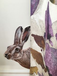 Hartley hare wall sticker/decal now available taken from my original painting! Animal Wall Decals, Vinyl Wall Stickers, Vinyl Wall Art, Hartley Hare, Photo Reference, Original Paintings, How To Remove, Prints, Animals