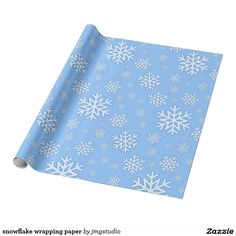 snowflake wrapping paper great for Christmas wrapping birthday party his or her party cute, fun, cartoon design, home, craft idea, zazzle store, holiday,