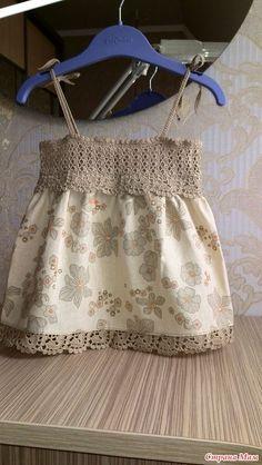 Crochet Yoke, Crochet Fabric, Crochet Girls, Crochet Baby Clothes, Crochet For Kids, Baby Tulle Dress, Little Girl Dresses, Girls Dresses, Frocks For Girls