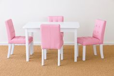 Childrens White Table and Chairs | Kids Toddler Table and Chair Set