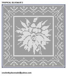 Jesus crown of thorns crochet pattern wallhanging doily 148 jesus 13 tropical bloom with border filet crochet doily afghan pattern dt1010fo