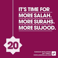 Ramadhan - last 10 days - pump it up ppl - more salah, more surahs, more sujud. Just don't rush through our ibaadah; time spent with Allah is never wasted Dua For Ramadan, Ramadan Tips, Ramadan Mubarak, Ramadan 2016, Muslim Quotes, Islamic Quotes, Islamic Dua, Laylat Al Qadr