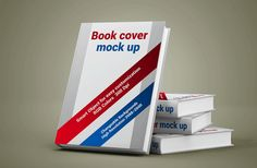 Free Book Cover Mockup PSD to display your books. Just add your own custom design inside the smart object and you are done. Display Mockup, Free Mockup Templates, Business Card Psd, Photoshop, Brochure Cover, Book Cover Design, Graphic Design, Graphic Art, Designers