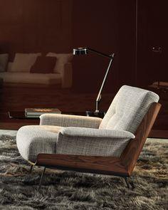 Italian Furniture, Modern Furniture, Furniture Design, Minotti Furniture, Hamilton Sofa, Studio Mk27, Contemporary Armchair, Modern Armchair, Bureau Design