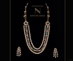 Beautiful designer Gold necklace set for women get different designs with Nikitha Linga jewellery collection. FestivalCollection Trendy Jewellery