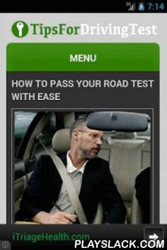 Tips 4 Driving Test  Android App - playslack.com ,  Practice makes perfect. Tips on how to pass your driving test the first time around. Take these tips into account and you'll have your driving permit in no time! This is all you'll ever need to learn on what to practice for road tests. Oefening baart kunst. Tips over hoe u uw rijexamen de eerste keer rond. Neem deze tips rekening houden en u zult uw rijbewijs hebben in geen tijd! Dit is alles wat je ooit nodig zult hebben om te leren over…