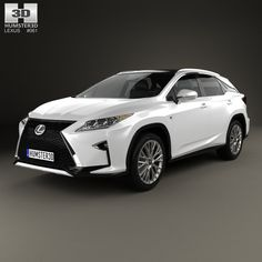 Lexus RX F Sport 2016 3d model from humster3d.com. Price: $75