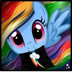 Rainbow Dash showing her cutie mark