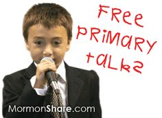 LDS Primary Talks | Mormon Share