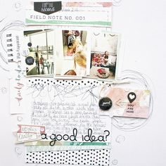 #papercraft #scrapbook #layout - Was this Really a Good Idea? by soapHOUSEmama at @studio_calico