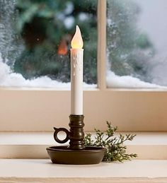 Battery-Operated Single Window LED Window Candle with automatic timer - $9.95 each