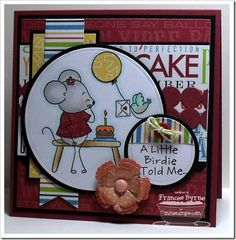 Mouse in the House - It's Your Birthday - MFT Stamps created by Frances Byrne