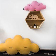 Cojín Nube Rosa  y Amarillo