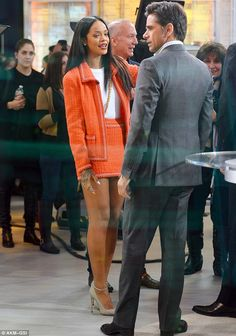 Rihanna wraps up in fur coat before putting on leggy turn in miniskirt Mode Rihanna, Rihanna Riri, Rihanna Style, Rihanna Outfits, Celebrity Outfits, Celebrity Style, Fashion Outfits, Rihanna Dress, Mode Streetwear