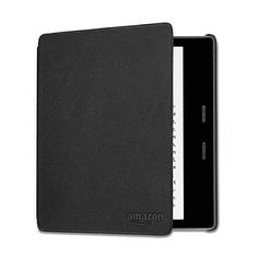 Kindle Oasis Leather Cover,  Black - Compatible with 9th (2017 release) and 10th generation (2019 release) Designed by Amazon to perfectly fit the ergonomic contours of your Kindle Oasis. Compatible with 10th generation (2019 release) and 9th generation (2017 release) only. Does not fit previous generation devices.Natural leather cover with microfibre interior protects your display against scratches. Kindle Oasis, Leather Cover, Display, Amazon, Contours, Natural Leather, Black, Sleep, Design