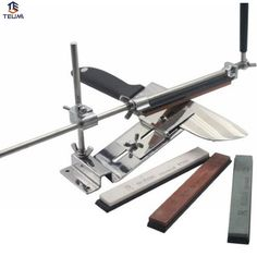 19.37$  Watch here - http://aliwk8.shopchina.info/go.php?t=32769971354 - Knife Sharpener Professional Sharpening System 1 Set Sharpening Stones Ruixin Fix-angle 4 Whetston Ketchen Accessories. 19.37$ #aliexpresschina