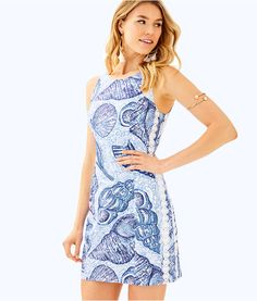 24c670765b609d Mila Shift Dress, Blue Peri Pop Up Stuffed Shells, large Resort Wear For  Women