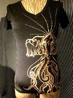 hand painted ganesha octopus t shirt by lauren begent