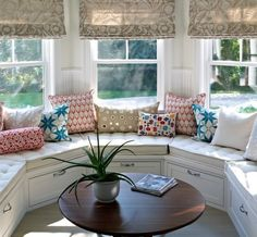 A home may not always be complete without a bay window seat. Whether it is a house or an apartment, you can have at least one. Make sure that these bay window seats are suitable for the whole conce… Coin Banquette, Window Seat Storage, Bench Storage, Kids Storage, Window Benches, Window Seats, Weekend House, Bay Window, Family Room