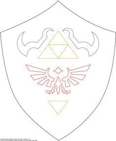 shield pattern, for future link/zelda costume http://www.firefly-path.net/?p=2055