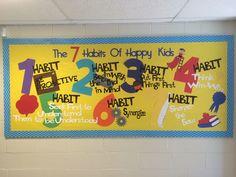 7 Habits Of Happy Kids bulletin board