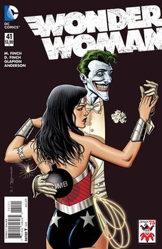 Exclusive preview of the new Wonder Woman. We love this picture of her with the Joker. Worlds Collide.