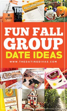 Fun FALL Group Date Ideas- these are sooooo fun.  Adding 'em to our fall bucket list. :)