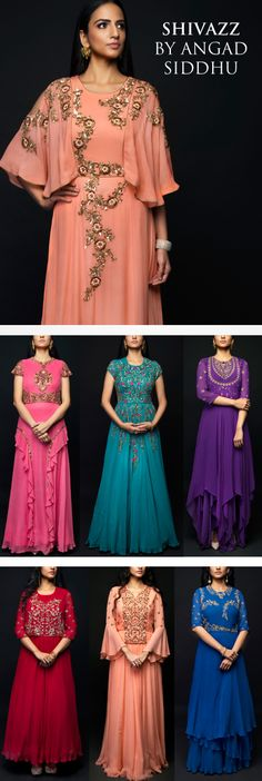 Beautiful tradition inspired styles in loads of vibrant shades added to our collections! Shop our collection of gowns: https://strandofsilk.com/shop-by-designer/shivazz-by-angad-siddhu