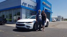 Congratulations and Best Wishes Richard and Nancy on the purchase of your 2017 Chevy Malibu!  We sincerely appreciate your business, Jay Hatfield Chevrolet and Brian Wellmeier.