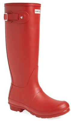 $148, Original Tall Rain Boot by Hunter. Sold by Nordstrom. Click for more info: http://lookastic.com/women/shop_items/146696/redirect