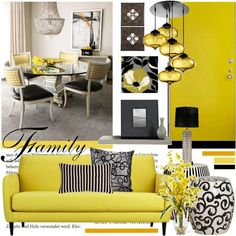 I found 'Yellow Black White and Gray Home Decor' on Wish, check it out!